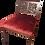 Thumbnail: Antique Carved Walnut Red Velvet Chair