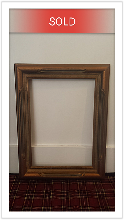 Vintage Golden Wood Frame