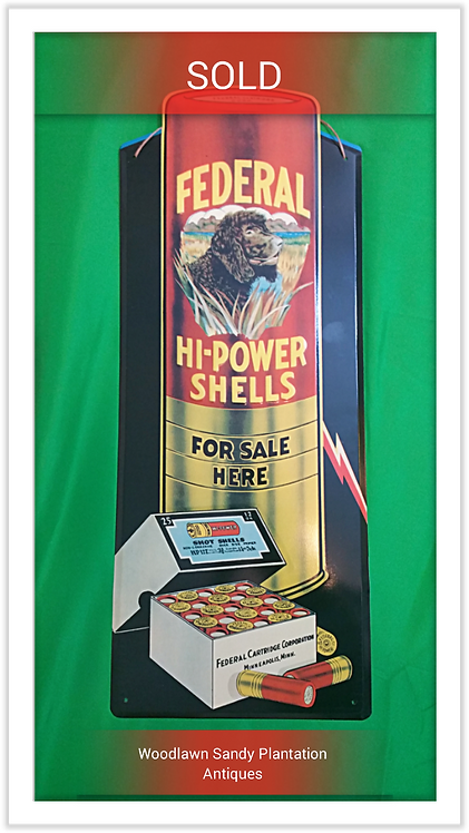 Vintage Federal Cartridge Co. Enameled Tin Sign