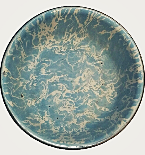 Granite-Ware Large Bowl (Blue and White)