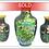 Thumbnail: Vintage Cloisonne Vase 3 Piece Set (Brass/Enamel)