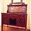 Thumbnail: 1900s Edwardian Burl Walnut & Marble Washstand with Storage