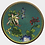 Thumbnail: Vintage Chinese Cloisonne Floral Enameled Plate