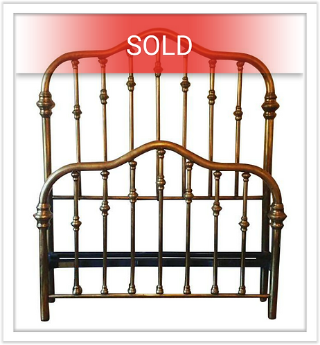 Vintage Solid Brass Full Sized Bed