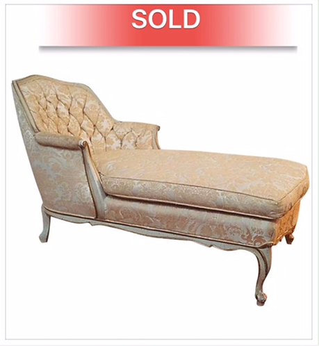 Tufted Modern French Chaise Lounge