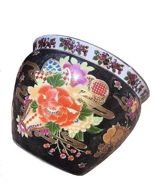 Vintage Asian Ceramic Planter