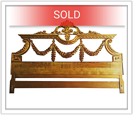 Vintage 1940/1950s Gilded French King Headboard