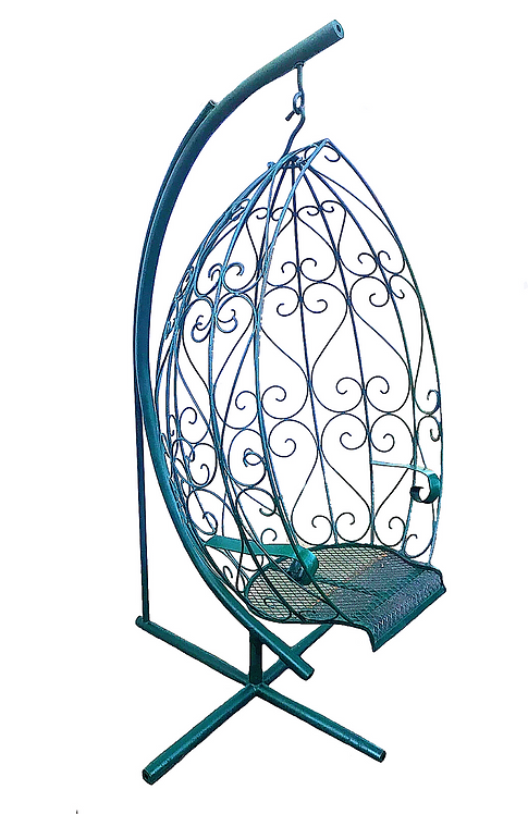 Wrought Iron Hanging Egg Chair Swing & Stand