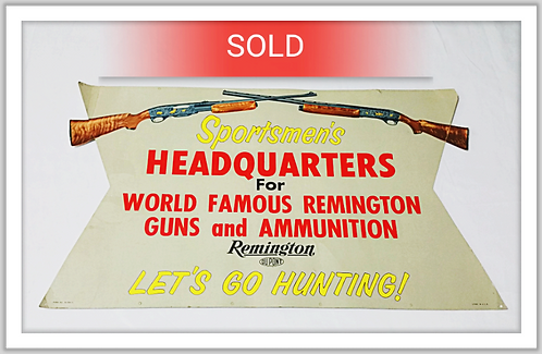Original Vintage Remington Ammunition Sign