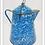 Thumbnail: Large Antique Coffee Pot: Blue Granite-Ware