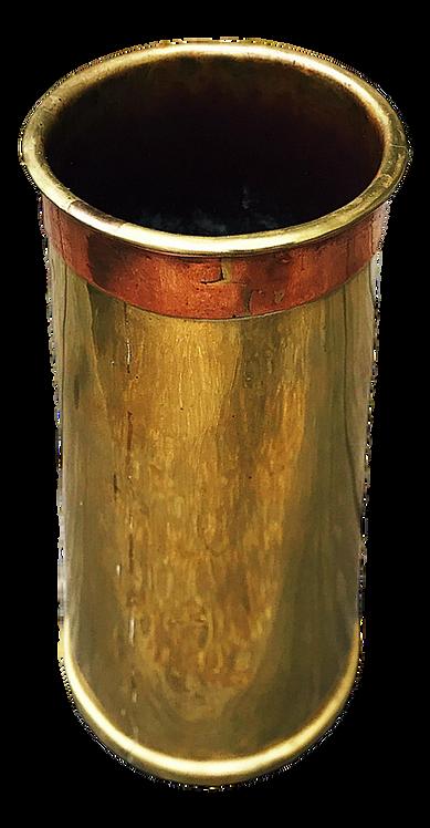 Antique Paul Beau & Co. Brass and Copper Vase