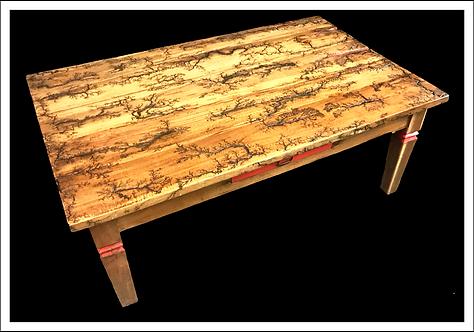 Litchenburg Fractal Solid Oak Coffee Table