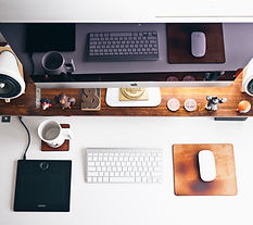 Clean and clear organized desk