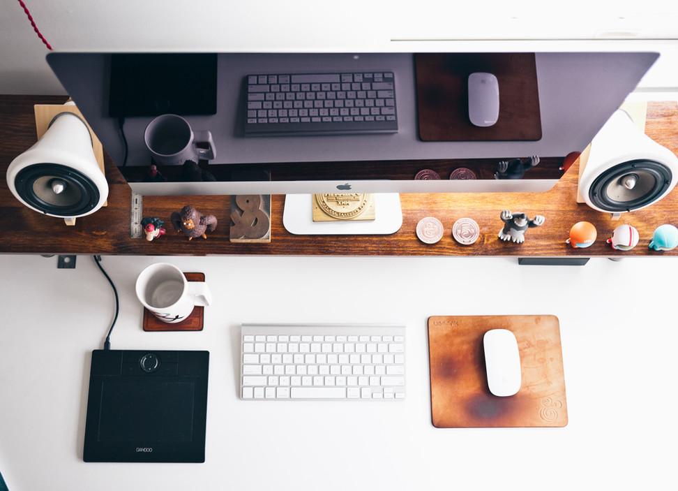 Clean & Minimalistic Desk Setup Tour | ft. Ikea Karlby Walnut Countertop (Late 2016)