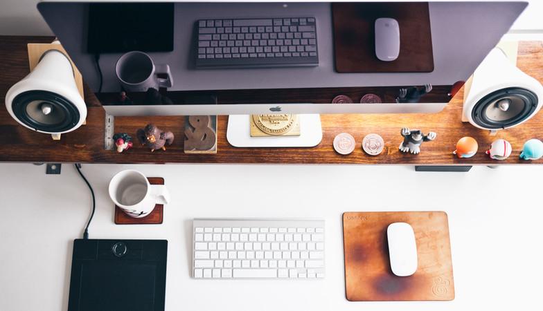 Escritorio con diseño
