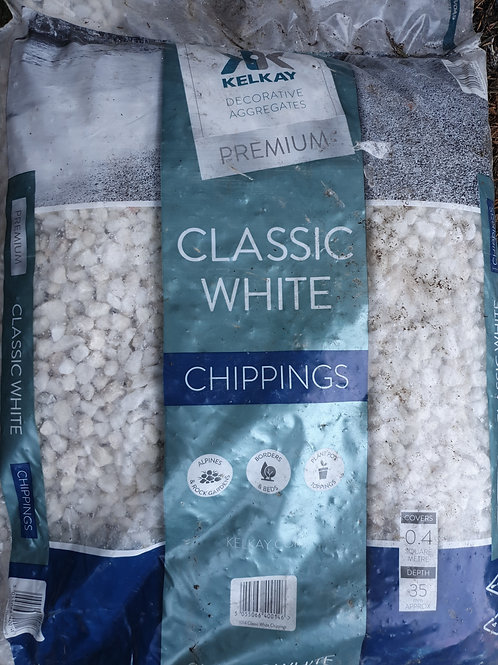 Classic white chippings 20kg