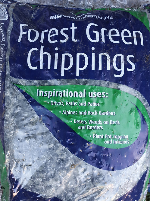 Forest green chippings