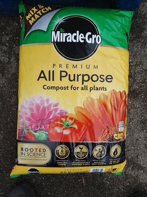 Miracle Gro premium compost 40L x2