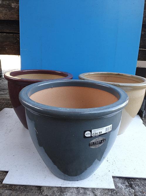 Coast glazed pot 'assorted colours '