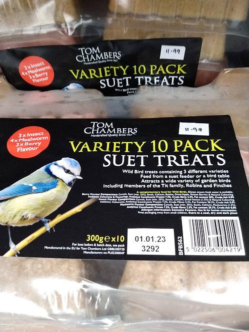 10 pack variety suet treats