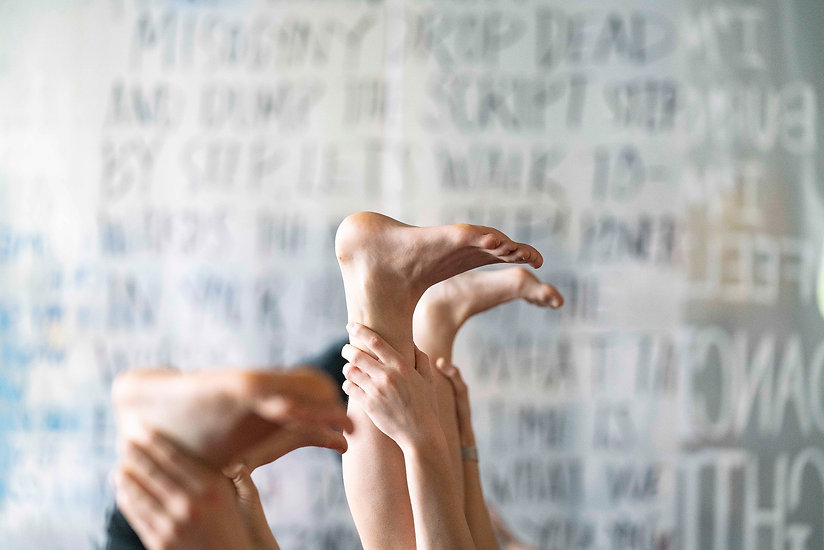 Feet in the air Yoga Borealis