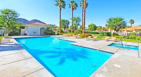 Large Pool overlooking the desert landscape