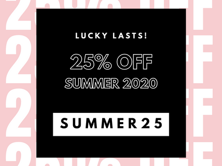 Lucky Lasts Summer Sale