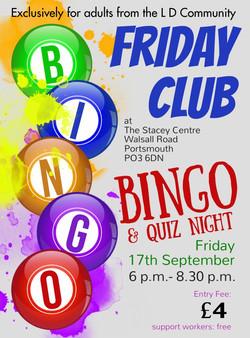 Friday Club Bingo and Quiz Night 17 Sep