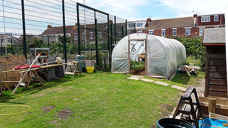 Copnor Men's Shed Poly Tunnel