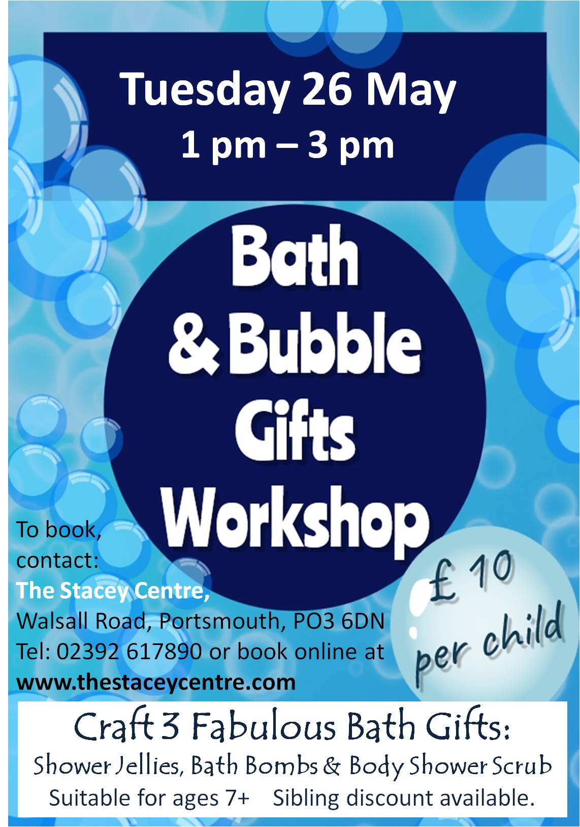 Bath and bubble workshop
