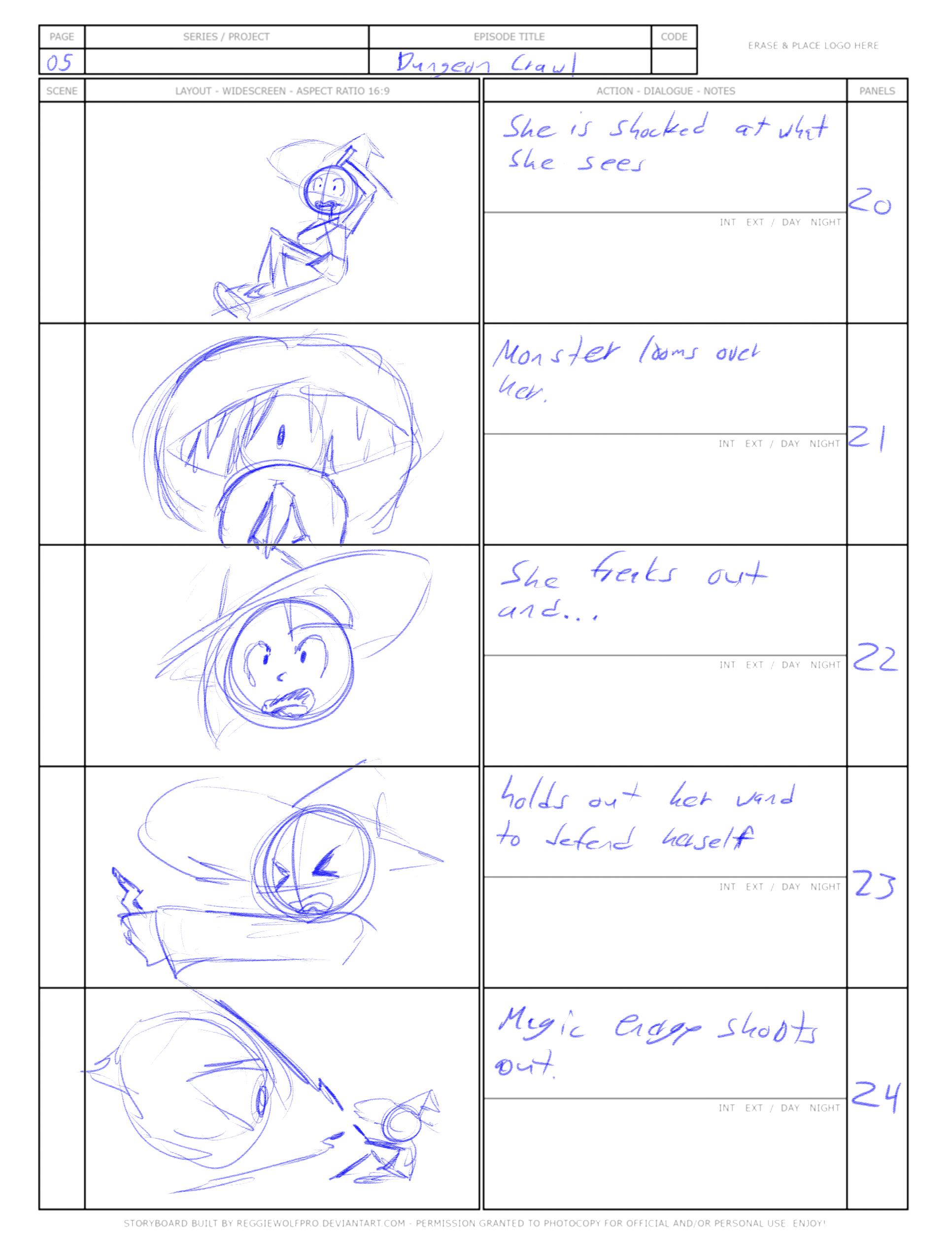 """Dungeon Crawl"" Storyboard 5"