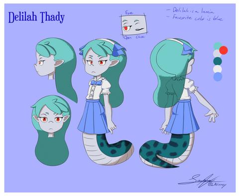 Delilah Thady Character Sheet 1