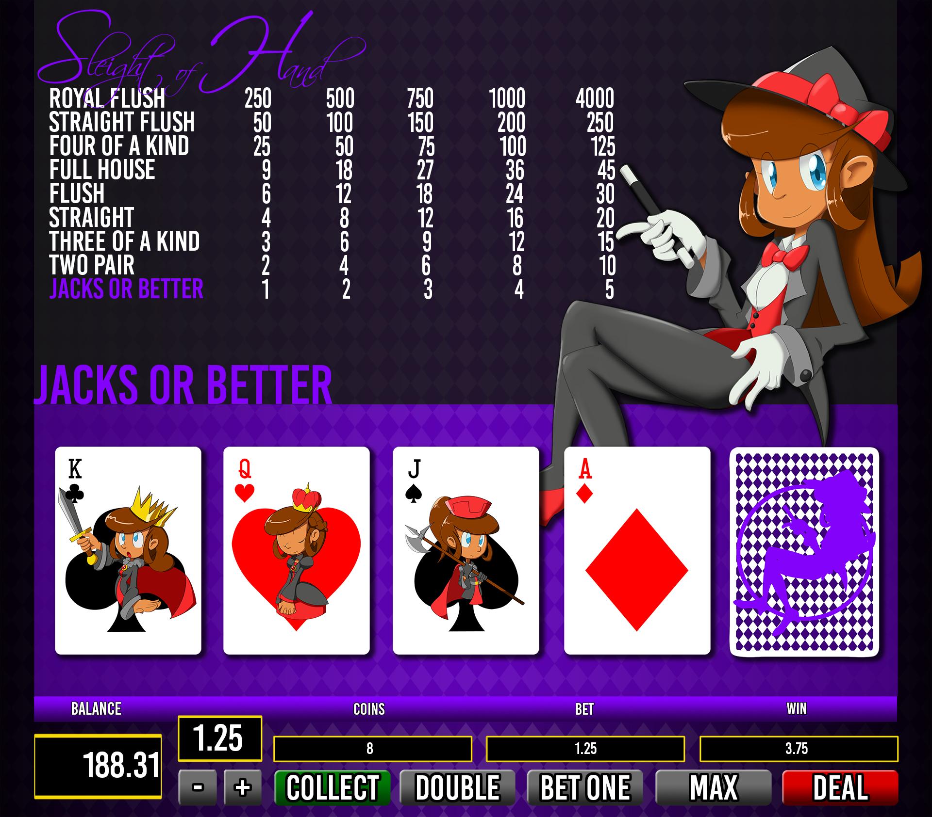 Video Poker Illustration