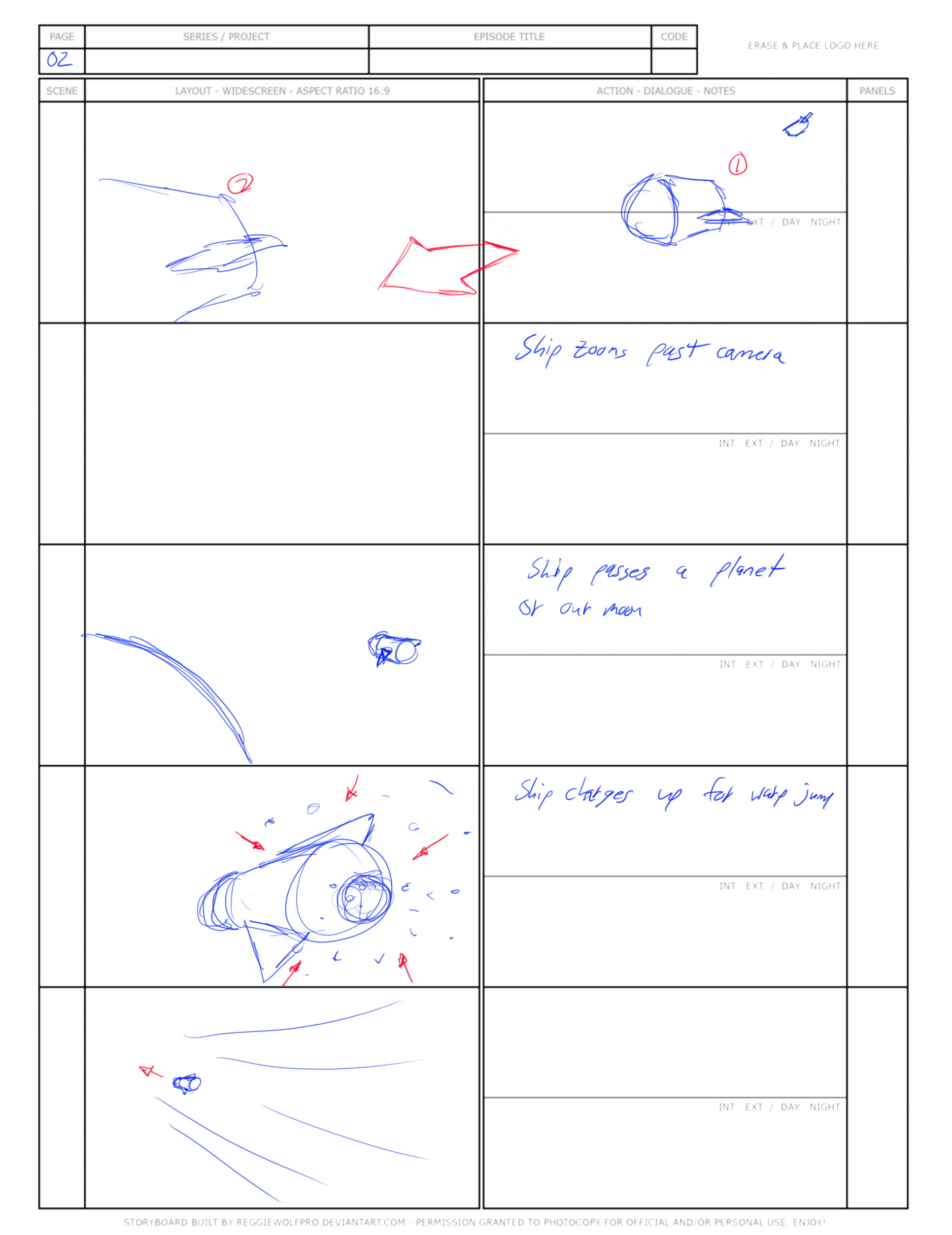 """Warp"" Storyboard 2"