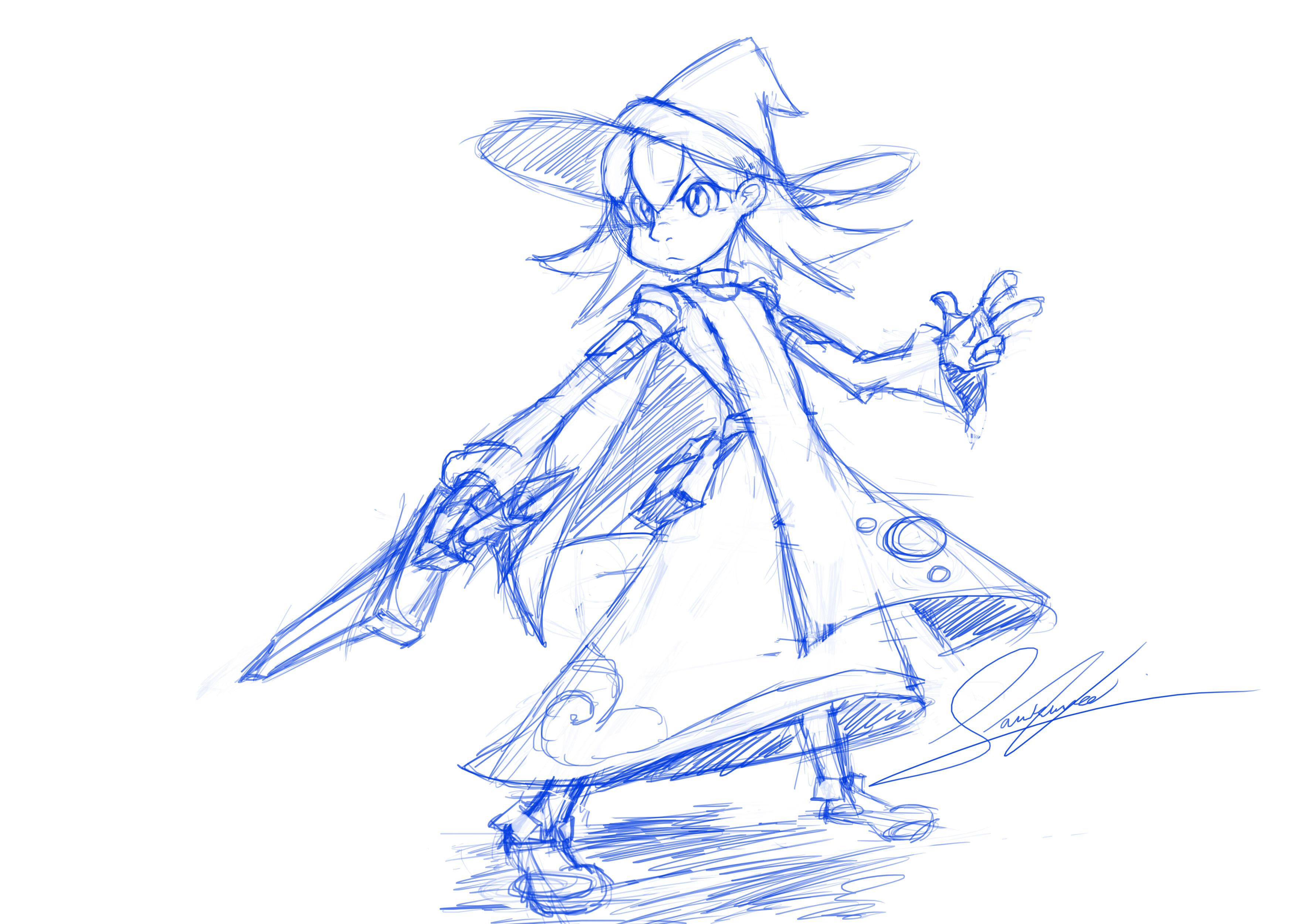 Verina Action Sketch