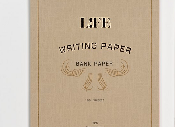 """Life brand """"bank paper"""", taupe cover, 100 sheets Style: Letter  Pad"""