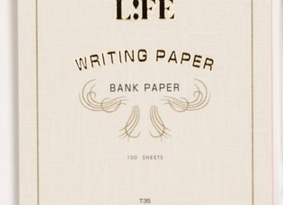 "Life ""bank paper"" pad, white cover Style: Letter Pad - White  Cover"