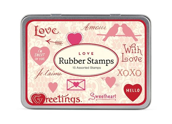 Love Rubber Stamp Set