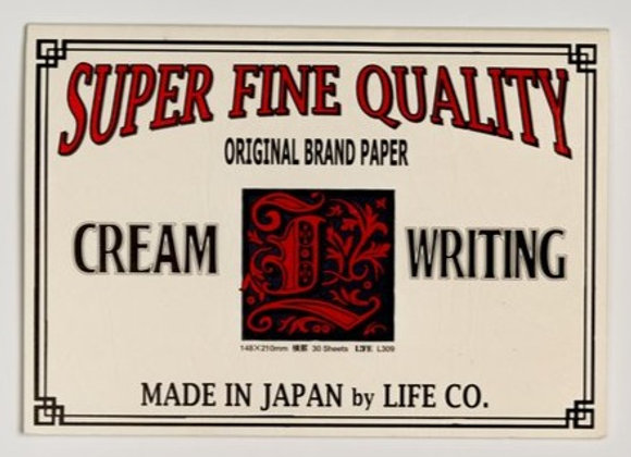 "Life brand letter pad ruled A5(6""X8""), ""cream writing"""