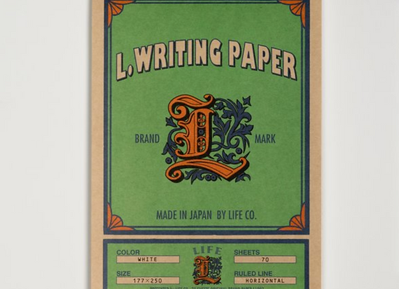 Life brand pad, ruled, green cover- size 250x177 mm Style:  Letter Pad