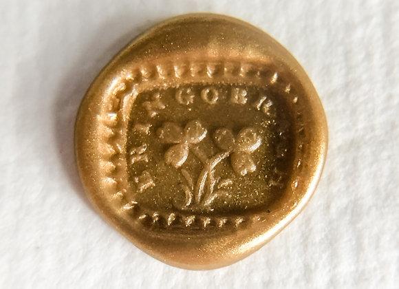 Erin Go Bragh Shamrocks in Gold (Square)