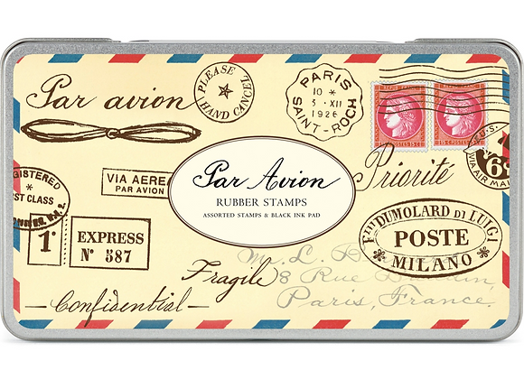 Par Avion Rubber Stamp Set