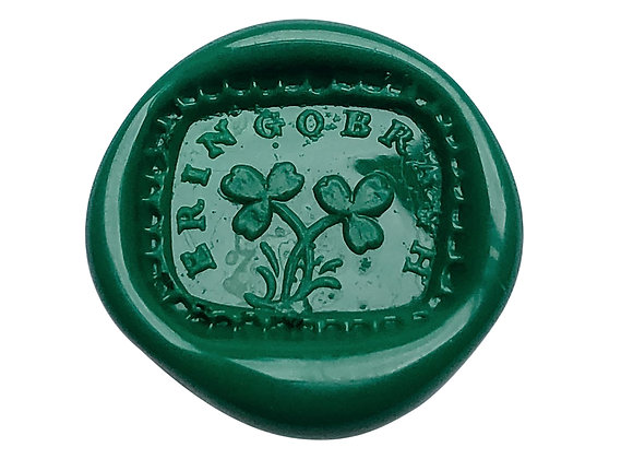 "Shamrocks with ""Erin go Bragh"" (9 Seals)"