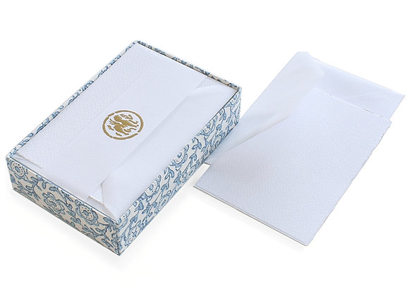 Rossi Deckle Edge Note Card Set (White)