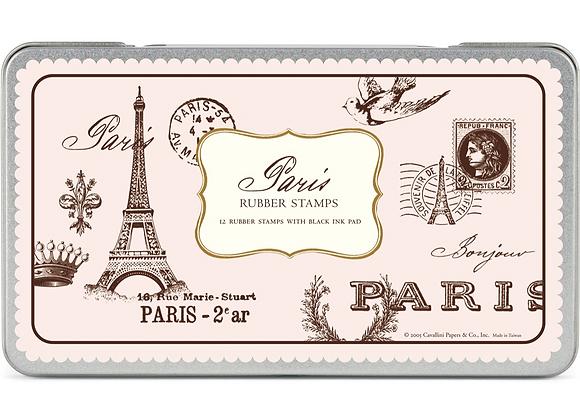 Paris Rubber Stamp Set