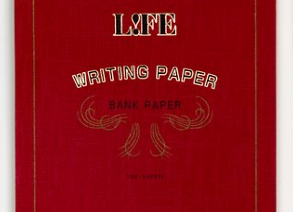 "Life ""bank paper"" pad, white cover Style: Letter Pad - Red Cover"