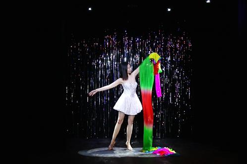 Rainbow Silk Fountain Streamer by Yan Yan Ma