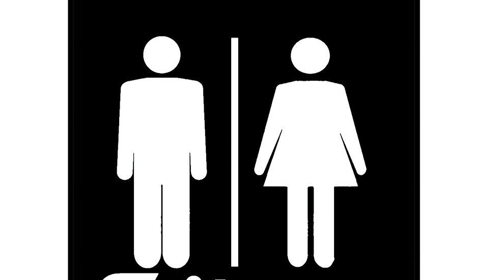 """Signalétique """"Toilettes"""" Homme&Femme"""