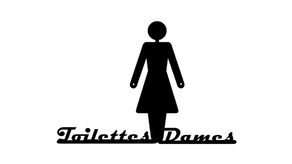"""Signalétique """"Toilettes Dames"""""""
