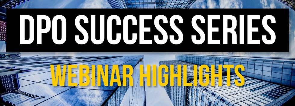 Webinar: DPO Success Series highlights